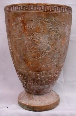 Ancient Egyptian Urn Antique Vase Classical Art Pharaoh Chariot Nefertiti
