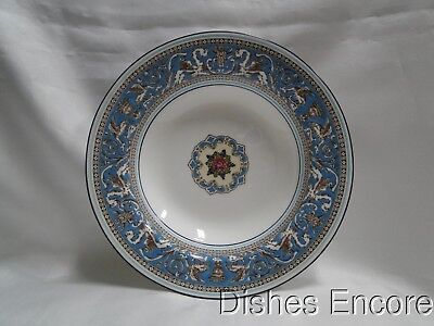 """Wedgwood Florentine Turquoise, Fruit, Dragons: Rim Soup Bowl (s), 8"""", As Is"""
