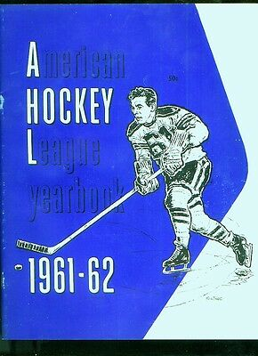 1961-62 AHL American Hockey League yearbook (52 pages)
