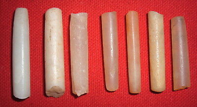 (7) Fine Sahara Neolithic Plugs/Labrets W/Damage, Prehistoric African Artifacts