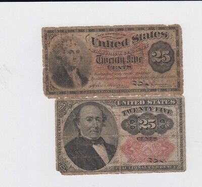 Fractional Currency Civil war era item to the 1870s 2 notes lower grade