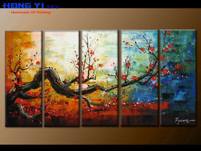 Large Framed Abstract Flower Oil Painting Art Wall Modern Decor on Canvas FY3674