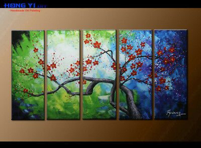 Large Framed Abstract Flower Oil Painting Art Wall Modern Decor on Canvas FY3705