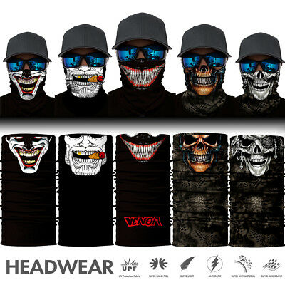 UV Face Mask Mask Gaiter Skull Headwear Fishing Hiking Skull Smile Snood Scarf