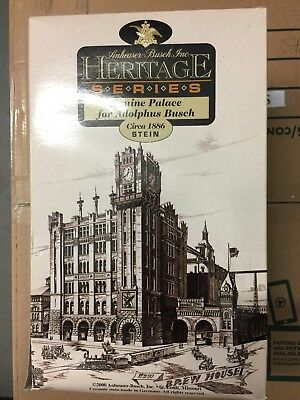 """Anheuser-Busch Heritage Series """"equine Palace For Adolphus Busch 1886""""  New (B"""