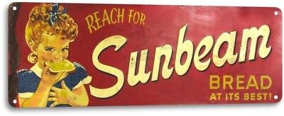 Sunbeam Bread Vintage Design Decor Kitchen Farm Cottage Store Metal Sign