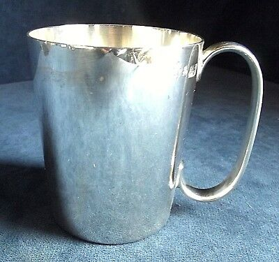 SUPERB ~ SILVER Plated ~ Half PINT TANKARD ~ 1930s by Walker & Hall