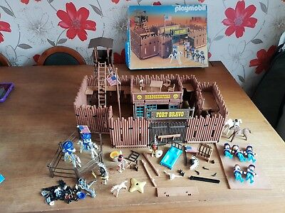 Vintage Playmobil Fort Bravo 3773 Spare Parts Box And Instructions