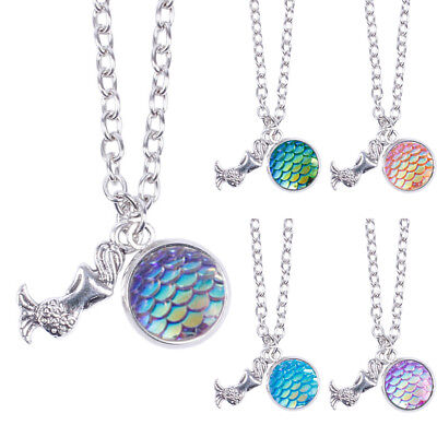 Holographic Mermaid Necklace Shimmery Fish Scales Choker Girl Party Gift Jewelry