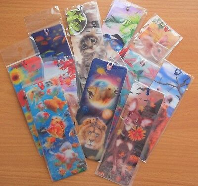 5 X 3D Bookmarks - assorted -many designs - picked at random
