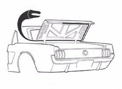 1965 1966 1967 1968 1969 1970 Mustang Coupe Convertible Trunk Weatherstrip USA
