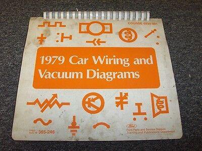 1979 lincoln mark v 5 & continental electrical wiring & vacuum diagram  manual