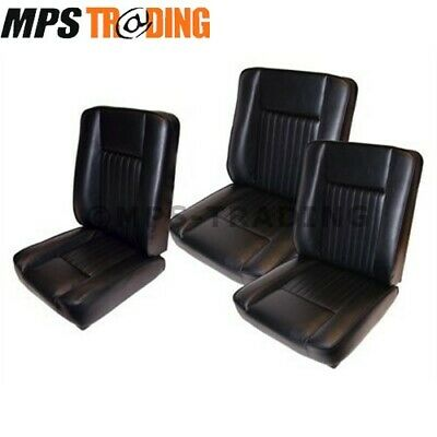 Land Rover Series 2 2A 3 Black Deluxe Vinyl Front Seat Set Da4298 Special Offer