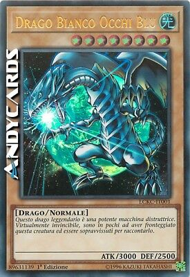 DRAGO BIANCO OCCHI BLU (ART 2) • Ultra Rara • LCKC IT001 • YUGIOH ANDYCARDS