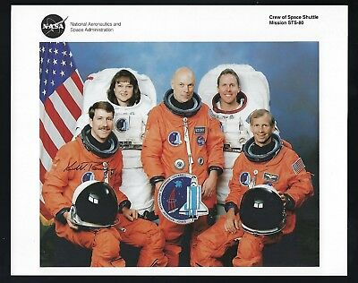 """Kent Rominger signed 8""""x 10"""" NASA lithograph Shuttle Astronaut STS-80"""