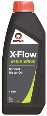 New Comma X-FLOW TYPE MOT 20W-50 Mineral Motor Oil - 1 Litre  XFMOT1L