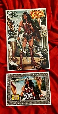 Justice League #1~Wonder Woman Csa Variant~Signed Mark Brooks+Scott Snyder+Coa~
