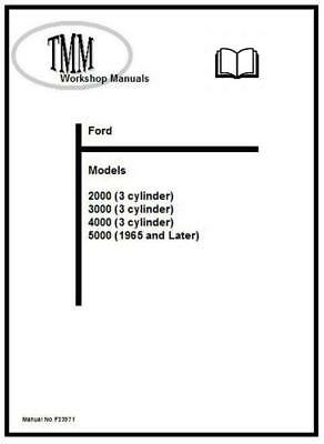 Ford TMM 2000 to 5000 Workshop Manual Printed and Digital