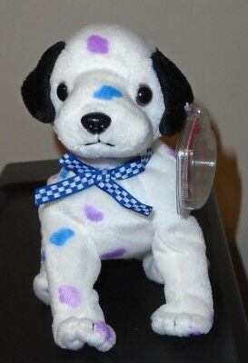 e81a9368b11 Ty Beanie Baby ~ DIZZY the Dalmatian Dog (Black Ears   Colored Spots) 5.5