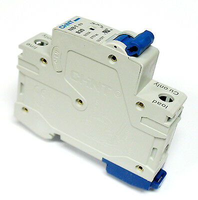 4 Amp 1 Pole Din Rail Mount Circuit Breaker UL 120 277 & 480 Volt Class D