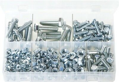 Assorted Box of Set Screws - High Tensile & Nuts - Metric - 240 Pieces