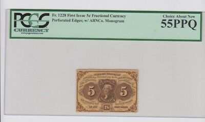 Fractional Currency Civil War era item to 1870's PCGS Graded ch. about new 55PPQ