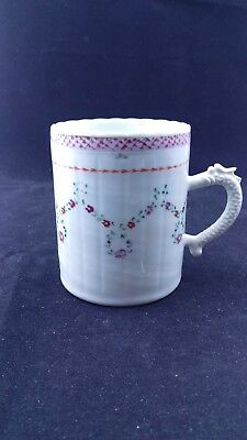 Antique 18thC Chinese Export Porcelain Mug Tankard Cup Ca. 1780