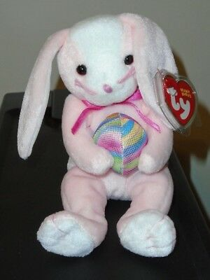 Ty Beanie Baby ~ EGGERTON the Pink Bunny ~ MINT with MINT TAGS ~ RETIRED