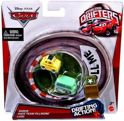 Disney Cars Micro Drifters Sarge, Race Team Fillmore & Luigi Mini Cars