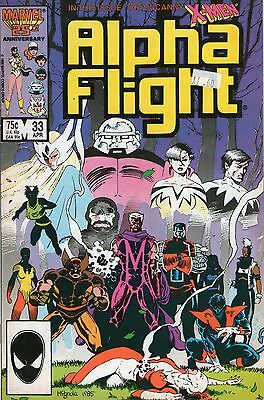 ALPHA FLIGHT # 33 - 1st  CAMEO App LADY DEATHSTRIKE ( 1st SERIES - LD 1986 )