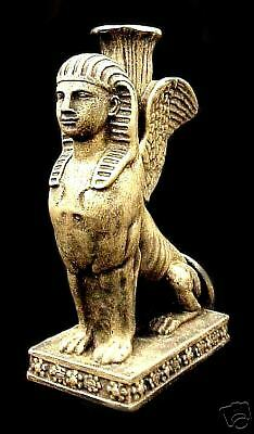 Egyptian Sphinx Statue And Holder Home Decor