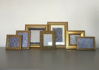 5c2e61b9205 Gold Gilt Vintage Antique Style Ornate Photo Picture Frames Shabby Chic Job  Lot