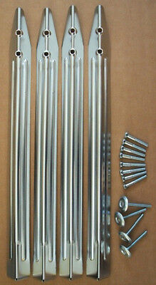 Chrome leg set for Bally Williams Pinball machines with bolts, levellers & nuts