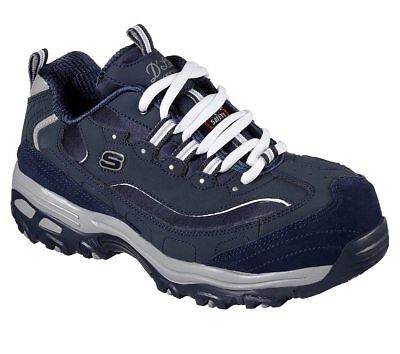 06cea59fdba83 76596 W Wide Navy Skechers shoes Women Work Memory Foam Slip Resistant  Alloy Toe