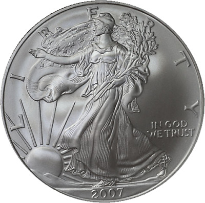 2007-W Silver American Eagle $1 NGC MS70 Early Releases Blue Label