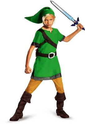 Legend of Zelda Triforce Link Master Sword Comic Con Cosplay Costume Child Boys