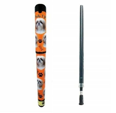 Shih Tzu Tan & White Puppy Cut Easy Glide Gel Pen & Spare Refill by E&S Pets