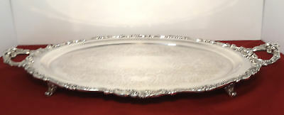Wallace BAROQUE HUGE Footd Waiter Tea Service Tray Grand Grande Silverplate