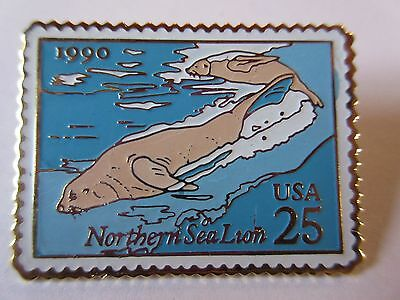 1990 Sea Lion 25c #2509 Stamp Pin USPS Postal  Postal Mail Postage Pinback NEW
