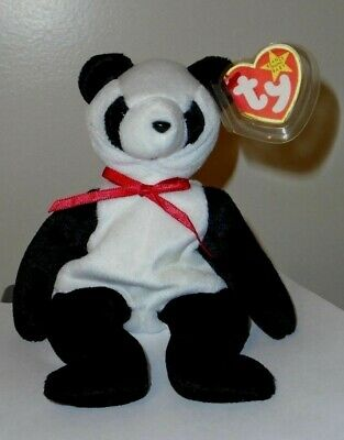 Ty Beanie Baby ~ Fortune the Panda Bear ~ MINT with MINT TAGS ~ RETIRED