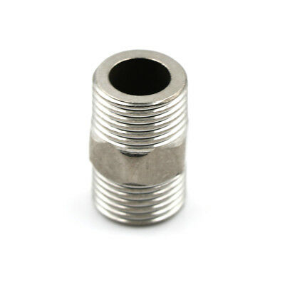 "1/2"" Male x 1/2"" Male Hex Nipple SS 304 Threaded Pipe Fitting NPT TO"