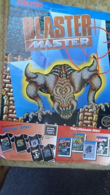 """Blaster Master Sun Soft 1986   NES Video Game 16 x 12"""" Used Promotional Poster"""