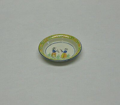 Dollhouse Miniature Hand Painted Quimper Bowl from England