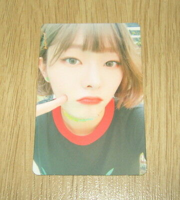 Pristin 2nd mini Album SCHXXL OUT EunWoo A Official Photo card