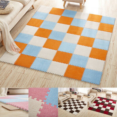 30*30cm Kids Soft Carpet Foam Puzzle Mat EVA Ant Velvet Baby Eco Floor Home Room