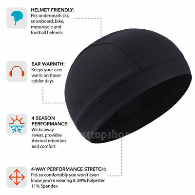 New Style Breathable Skull Cap Helmet Liner Beanies Hats Running Gym Sports Cap