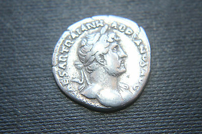 ANCIENT ROMAN HADRIAN SILVER DENARIUS COIN GALLEY 2nd CENTURY AD CAESAR