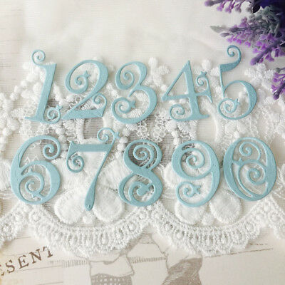 Metal Circle Lace Numbers Cutting Dies Stencil Scrapbooking Embossing Card Craft