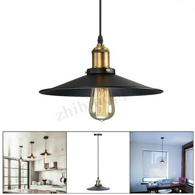E27 Industrial Retro Vintage Iron Ceiling Lamp Pendant Light Chandelier Fixture