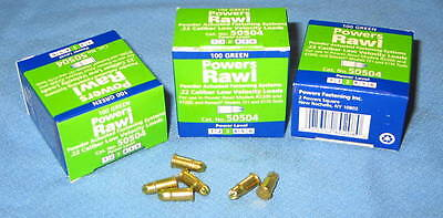 3 Boxes of 100 Green #3 POWERS RAWL #50504 .22 Cal Low Velocity Powder Fasteners